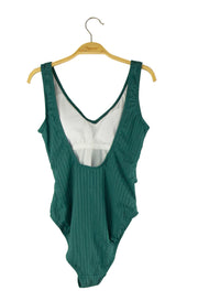 Reflections Bathing Suit in Dark Green