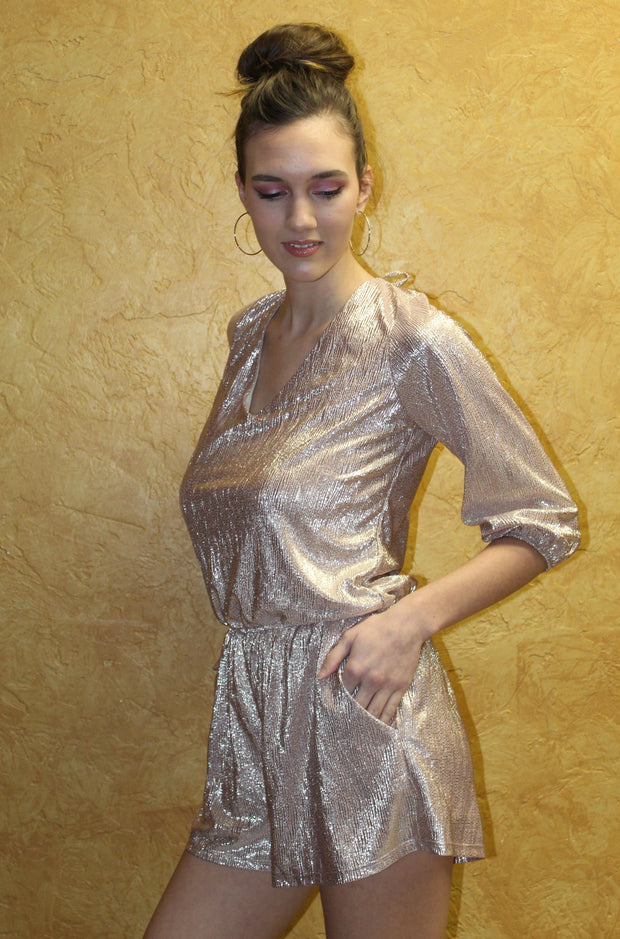 In Control Romper in Gold