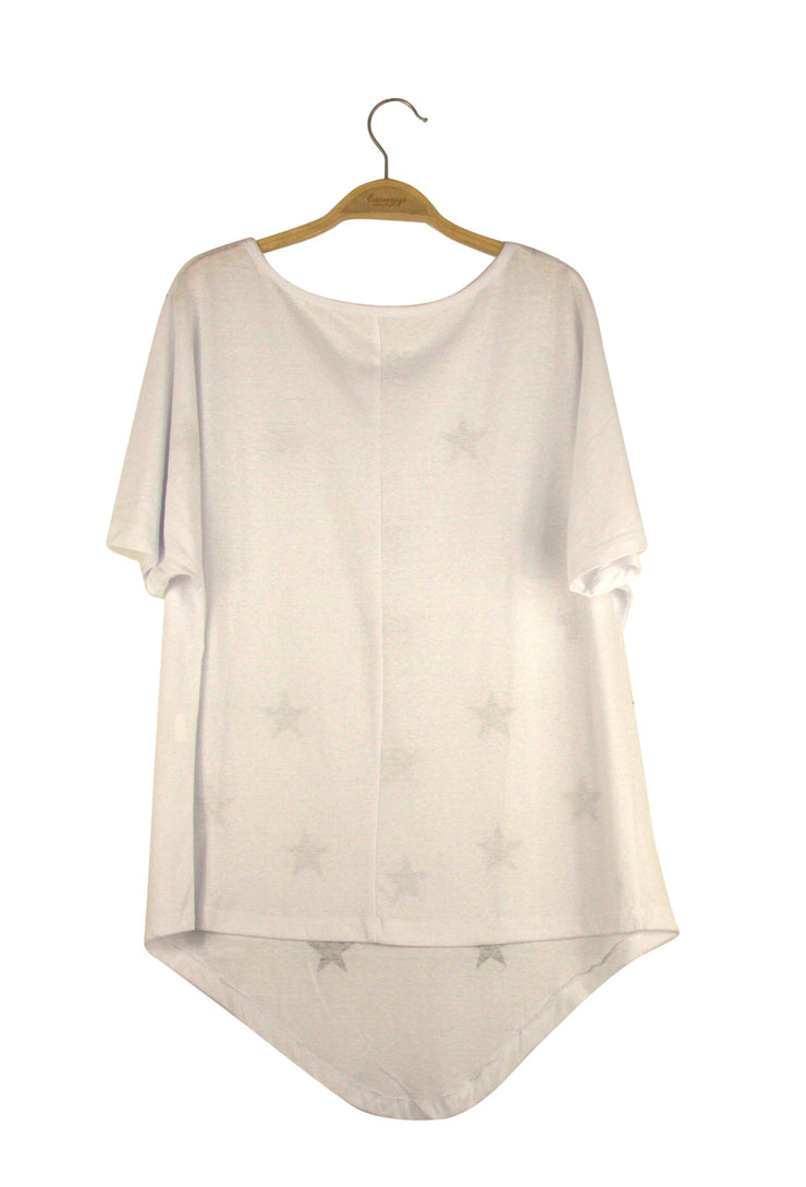 Star Studded Top in White