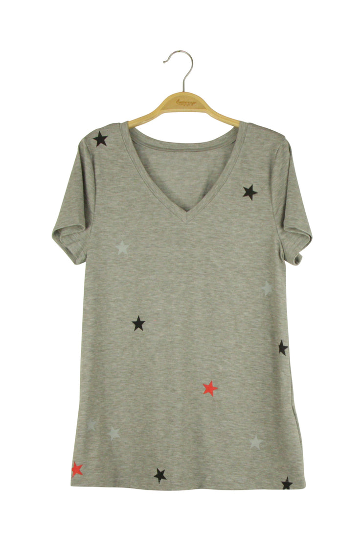 Falling Star Top in Grey