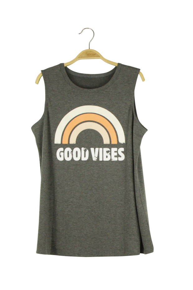 Good Vibes Tank in Grey