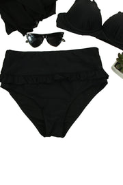 All About the Ruffles Bikini Bottom in Black