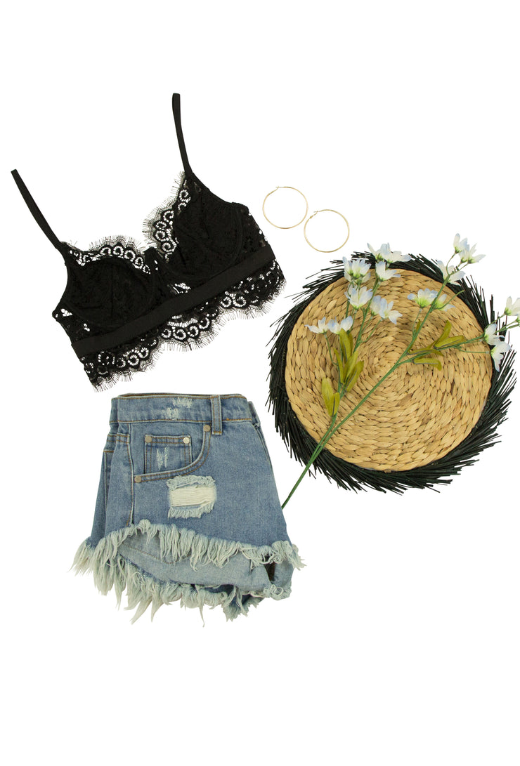 Live a Little Bralette in Black