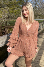Run Rampant Romper in Dark Brown