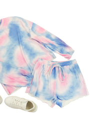Sweet Dreams Shorts in Dark Pink and Blue