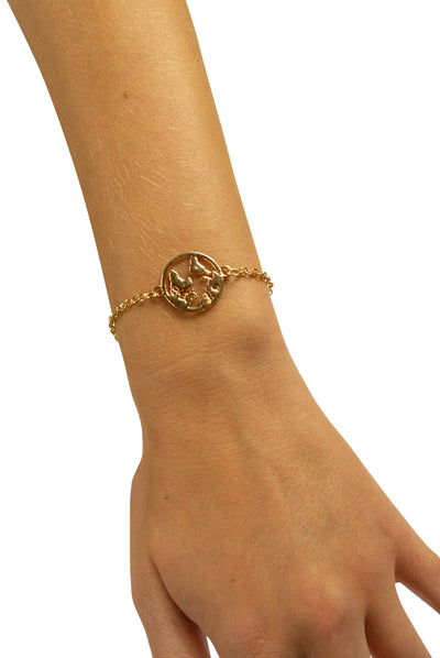 All Around the World Bracelet in Gold