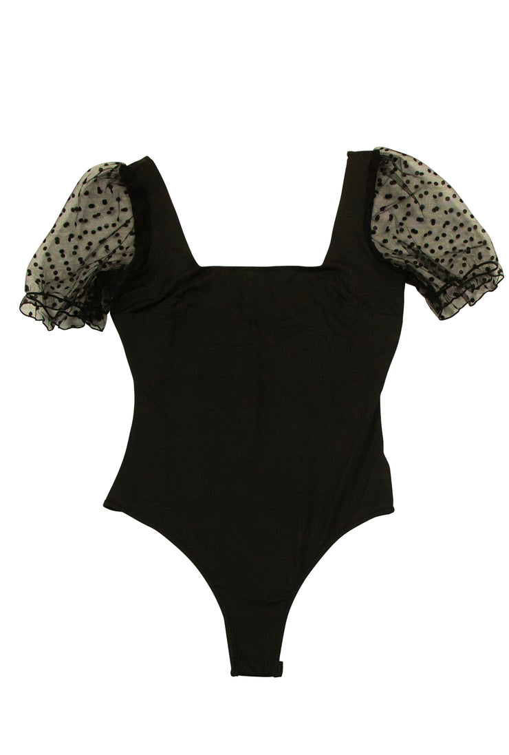 Kiss Me Quickly Bodysuit in Black