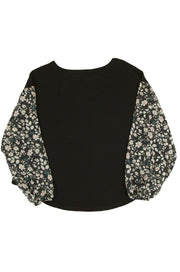 Blossom Top in Black