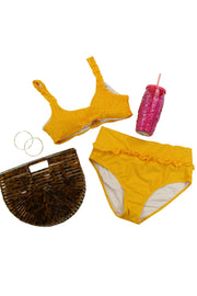 Ready or Not Bikini Top in Dark Yellow