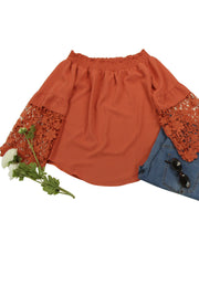 In Bloom Top in Dark Orange