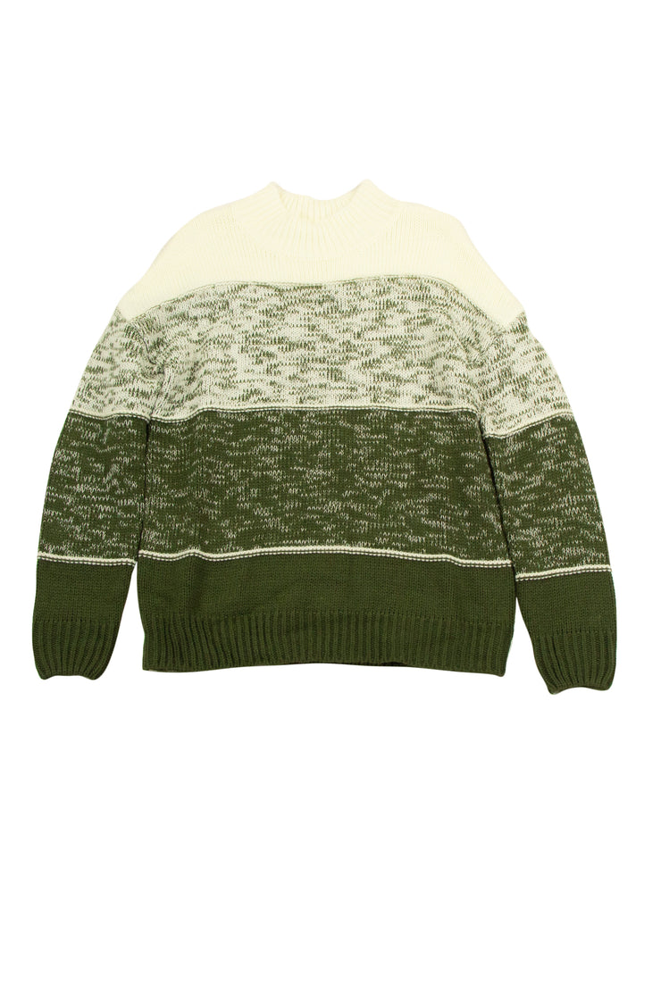 Stay Positive Sweater in Green