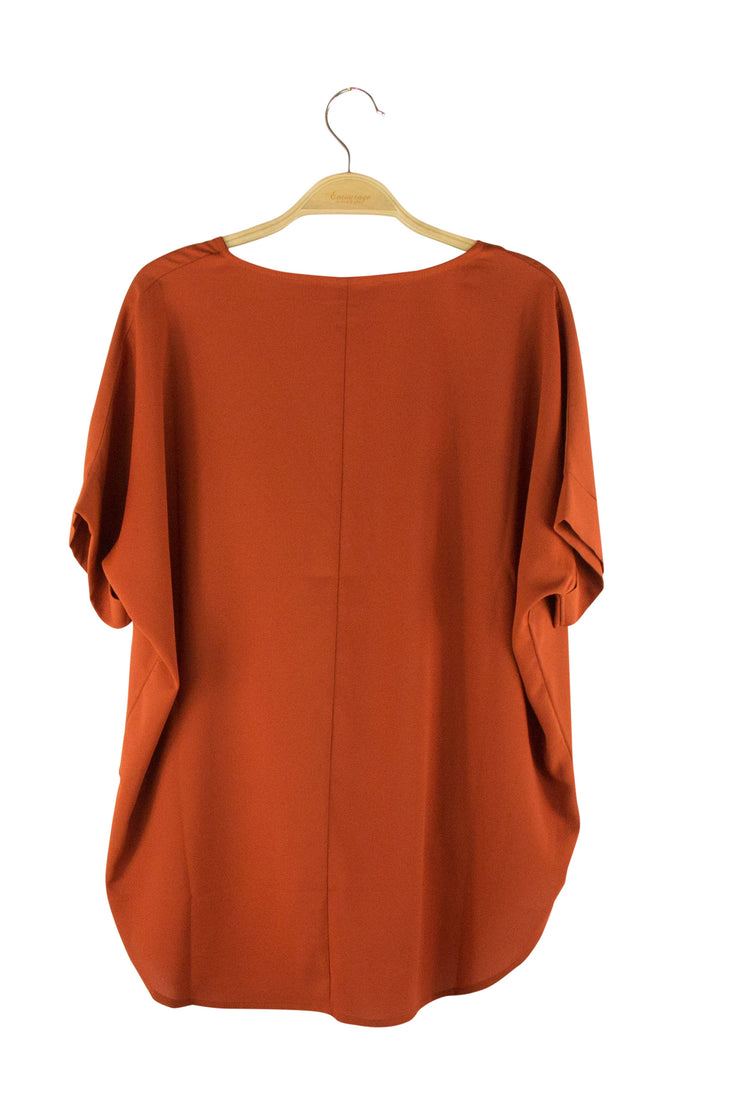 Striking Top in Dark Orange