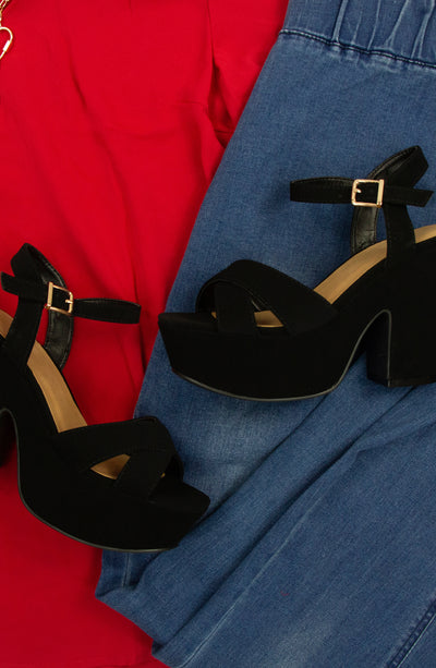 Amour Heel in Black