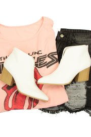 Fashionista Booties in White