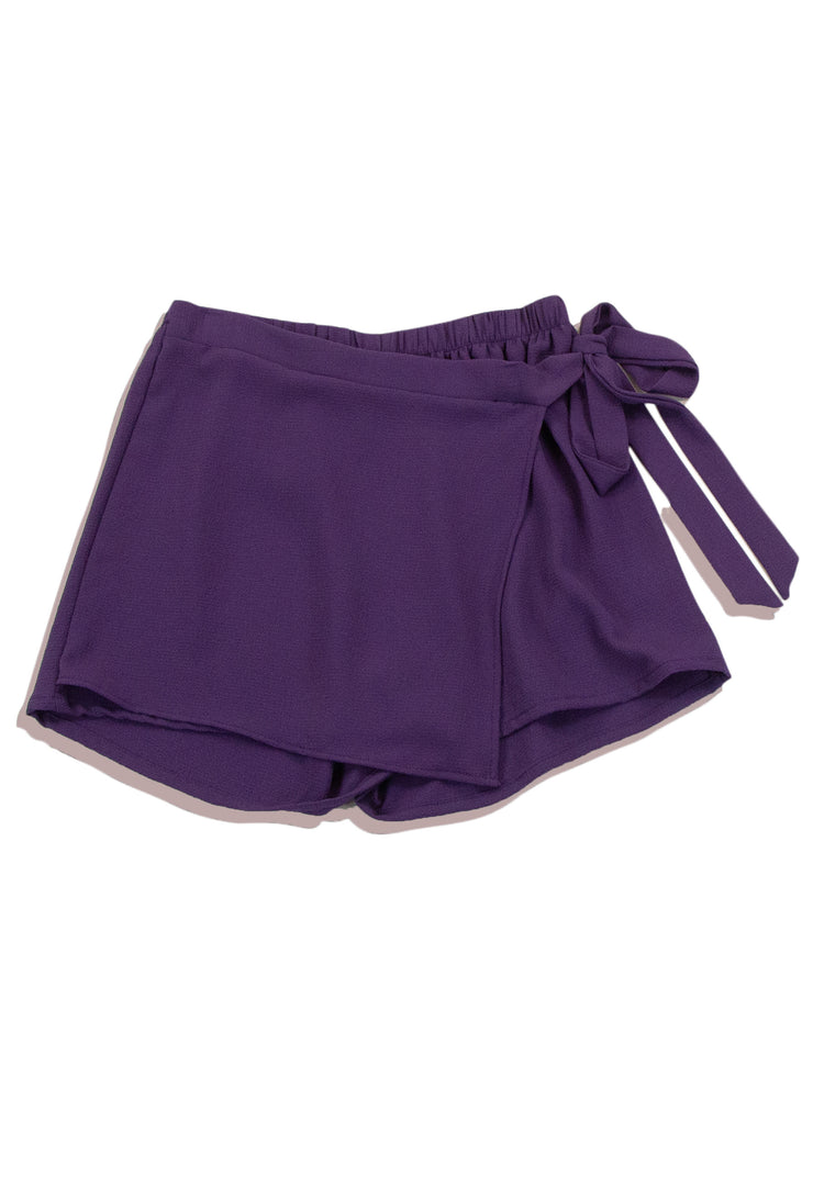 Captivating Shorts in Purple