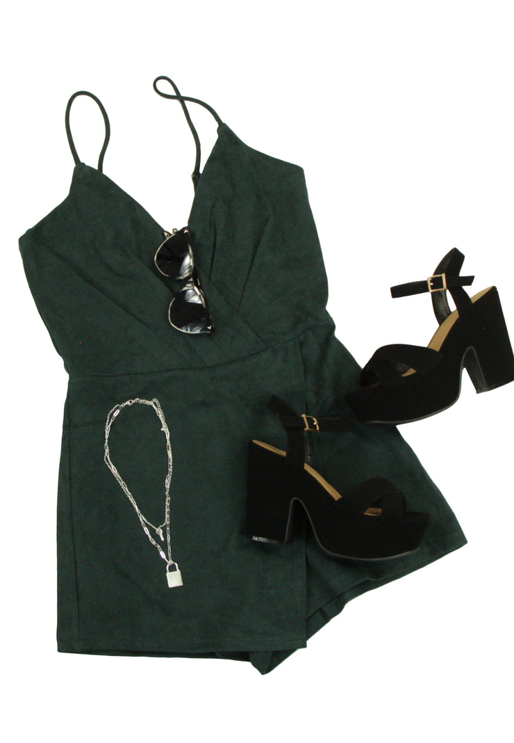 Hidden Gem Romper in Green