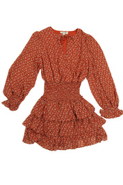 Blended Dress in Dark Orange