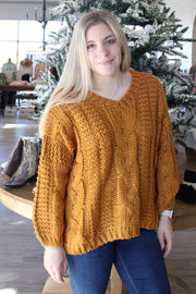 First-Rate Sweater in Dark Yellow