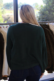 Virtues Sweaters in Dark Green