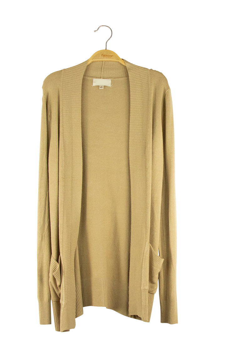 No Sweat Cardigan in Light Brown