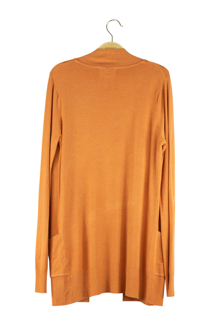 No Sweat Cardigan in Orange