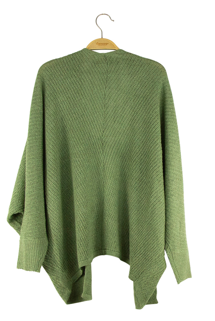 True Intentions Cardigan in Dark Green