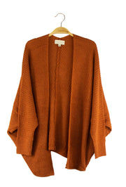 True Intentions Cardigan in Dark Orange