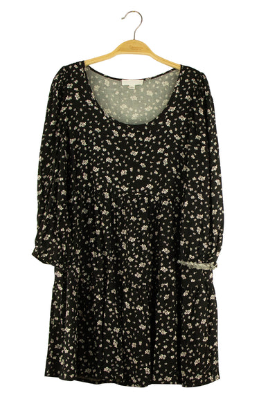 Wild Flowers Dress in Black
