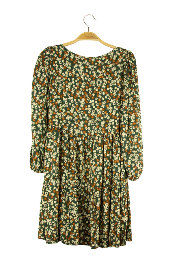 Wild Flowers Dress in Green