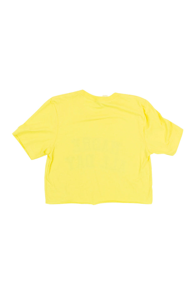 Madre All Day Cropped Tee in Yellow