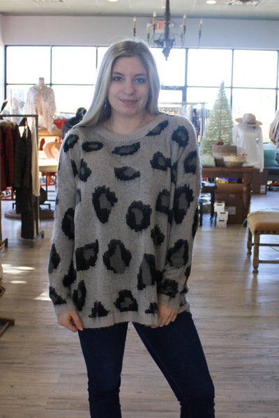Wildlife Sweater in Gray