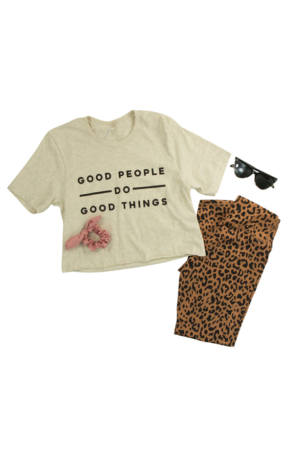 Good People Cropped Tee