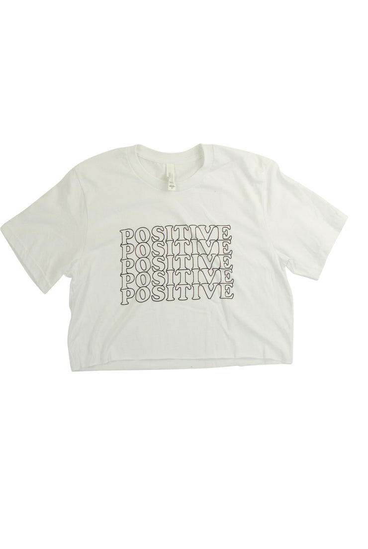 Always Positive Graphic Tee in White