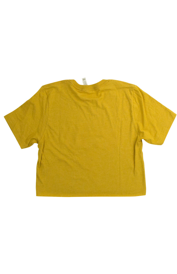 Girl Gang Tee in Dark Yellow