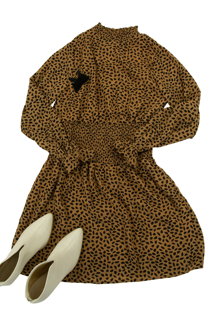 Born to Be Wild Dress in Brown
