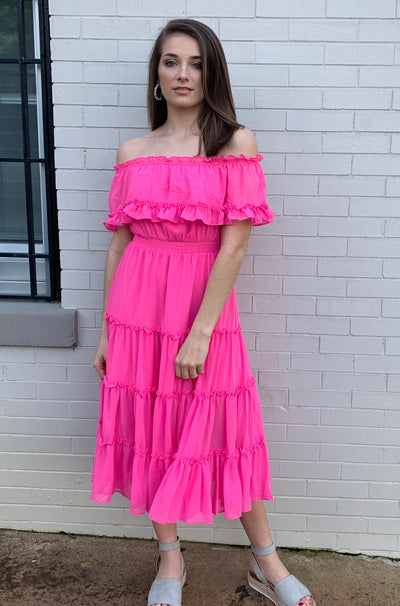Flamenco Dress in Pink