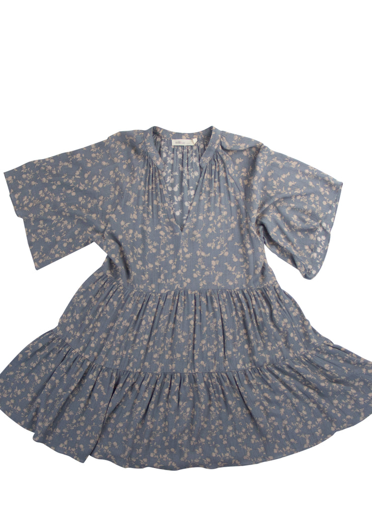 Floral Bliss Dress in Gray