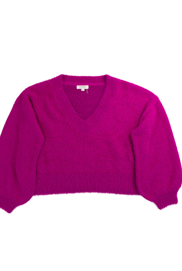 No Hesitation Sweater in Dark Pink