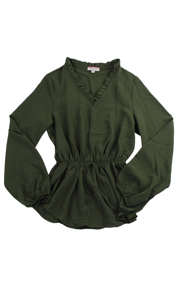 Sealed with a Kiss Top in Dark Green