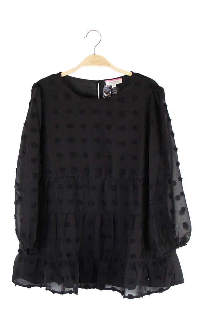 Exclamation Mark Top in Black