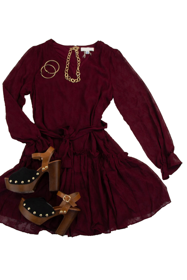 Unstoppable Dress in Dark Red