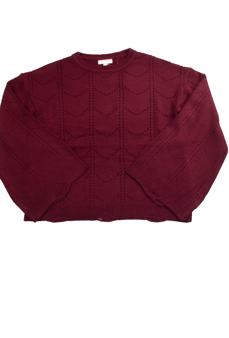 Touch of Class Top in Dark Red