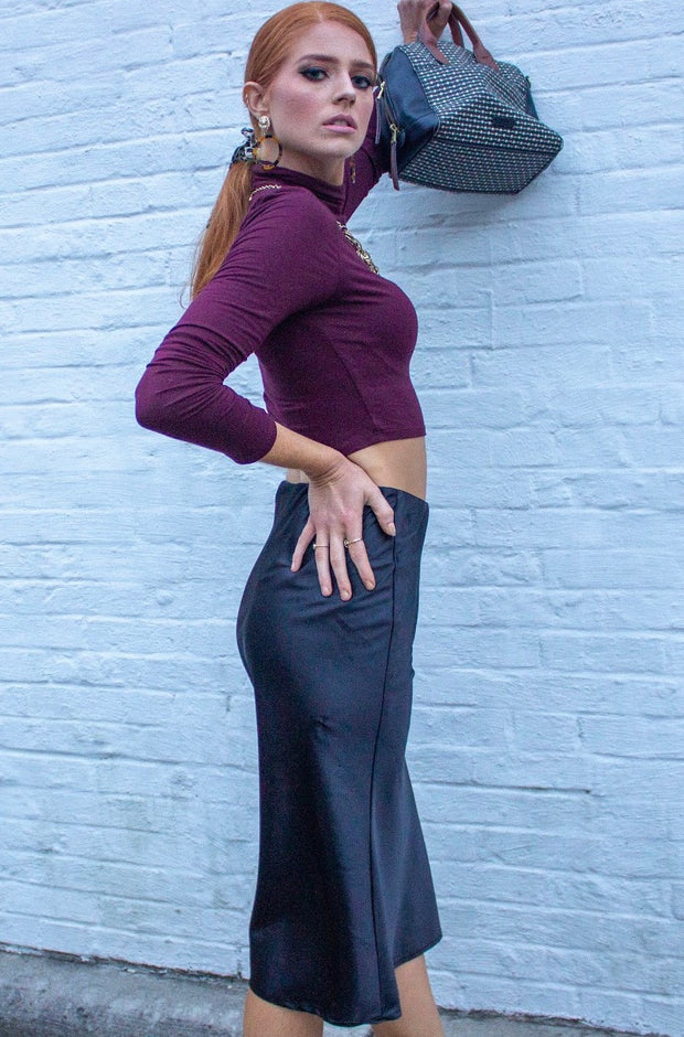 Polished Skirt in Black