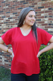 Beyond Basic Tee in Red