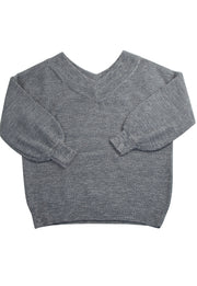 Salt and Pepper Sweater in Light Gray