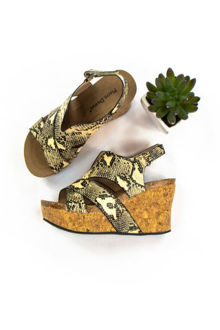 Walk on the Wild Side Sandals in Snakeskin