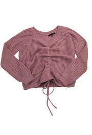 Pull Some Strings Top in Dark Pink