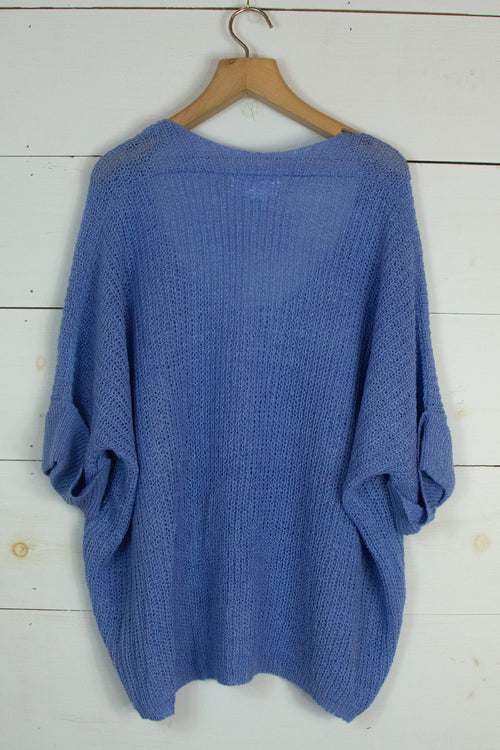 Spring Evenings Sweater in Blue