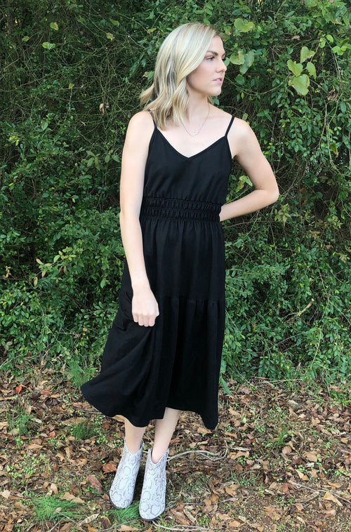 Snatched Dress in Black