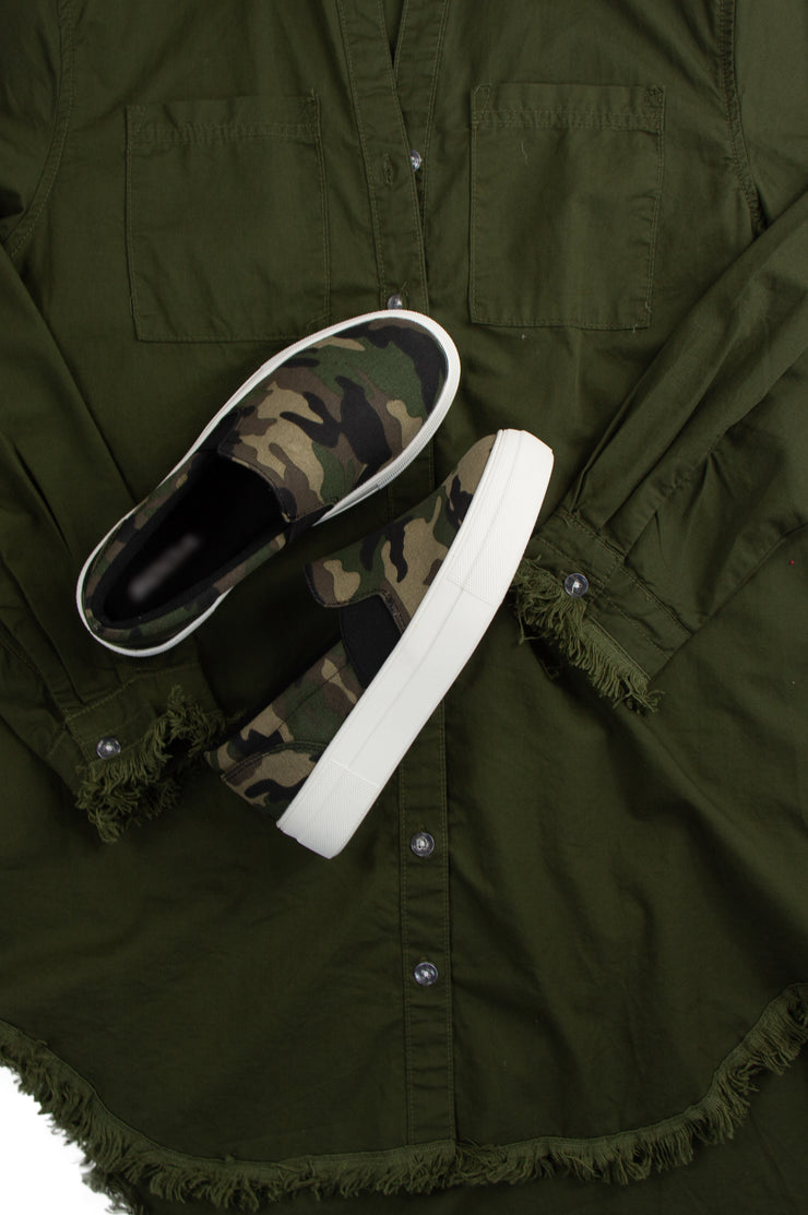 Cool and Casual Sneakers in Camo